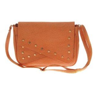 ALIADO Beige Self Design Sling bag for women