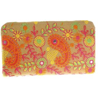 ALIADO Multicolor Self Design Clutch for women