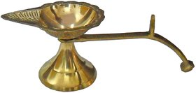 BRASS DIYA , OIL LAMP FOR TEMPLE, AKHAND DIYA JYOT FOR HOME OFFICE TEMPLE DIFFUSER POOJA ACCESSORIES BY Gifts  Decor