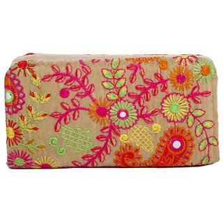 ALIADO Multicolor Self Design Clutch for women