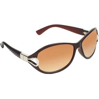 Zyaden Brown Round sunglasses for women 427