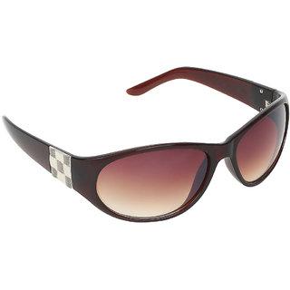 Zyaden Brown Oval sunglasses for women 417