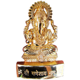 Gold Plated Ganesh Idol - 7 cms