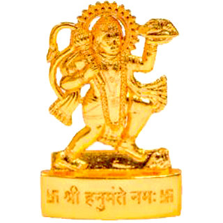 Gold plated Hanumanji Idol - 7 cms