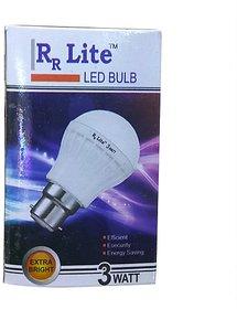 RR Lite 3W LED Bulbs Cool Day Light - Pack of 10