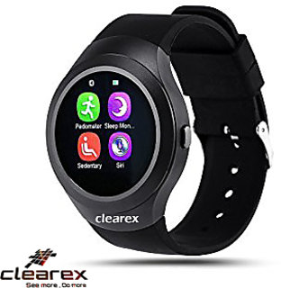 Clearex's y1 Round Unisex Smart watch With Sim and With Bluetooth