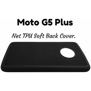 SAVINGUP BLACK NET Jaali MATTE DESIGN SOFT TPU BACK CASE COVER FOR MOTOROLA MOTO G5 PLUS/ MOTO G5+