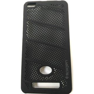 SAVINGUP Net (Jaali) Mesh Hard Back Shell Case Cover For Redmi 4A (BLACK)