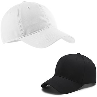 Hetshicreation Girls  Black And White Color exclusive Cotton Caps Combo