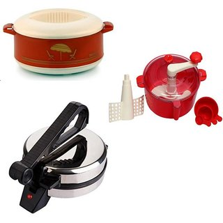 Combo Pack of Roti Maker + Red Dough Maker and Casserole