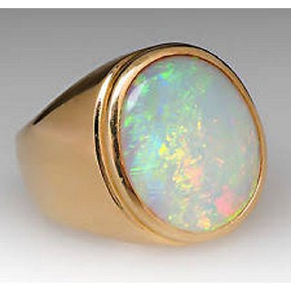 Jaipur Gemstone 8.25ratti fire opal stone Ring