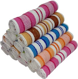 face towel 8 x 12 inch striped pack of 12