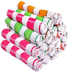 Pack Of 6 Face Towel 8x12 Inch Striped