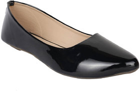 Do Bhai Women's Black Flats - 135480904