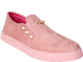 Do Bhai Women's Pink Sneakers