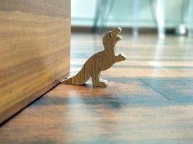 JaamsoRoyals T-Rex Dinosaur Design Small Non-Slip wooden Door Stoppers - To Stop Or Jam the Doors