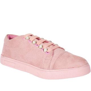 Do Bhai Women's Pink Sneakers