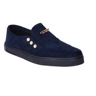 Do Bhai Women's Blue Sneakers