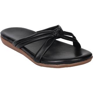 Do Bhai Women's Black Flats - 135480956
