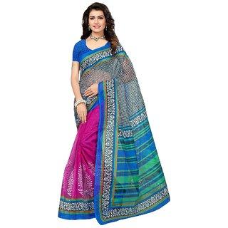 Womaniya Online Designer Multi Bhagalpuri Saree