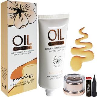 Mars Oil Control Foundation 03-Shade 60ml With Free LaPerla Kajal