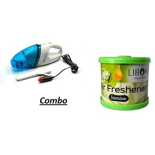 love4ride Combo for Car Vacuum Cleaner with Gel Based Perfume