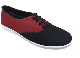 Beta Panchu Men's Red,Black Lace-up Casual Shoes
