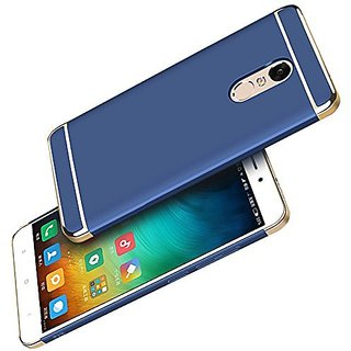 BM Redmi Note 5 Hard PC Shell Electroplate Matte 3 in 1 Anti Scratch Proof 360 Degree Back Cover Case (BLUE )