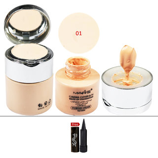Mars Cinema Cover  TV Make-up 01 Foundation (Powder Cream) 50ml With Free LaPerla Kajal
