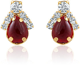 Oviya Gold Plated Charismatic Lure Earrings With Crystal For Women