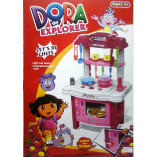 Dora Childrens Kitchen Set With Oven Dining Asserories In India Shopclues Online