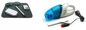 Combo of Car Vacuum Cleaner with Non Slip Mat for Dashboard