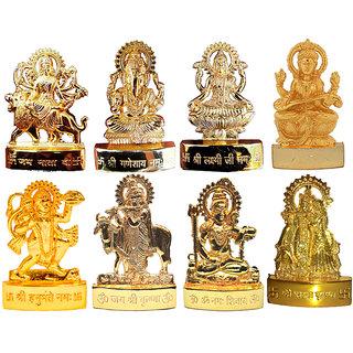 Combo offer -Gold Plated Ganesh Laxmi Durga Saraswati Hanuman Shiv Radha Krishna Gai Krishna