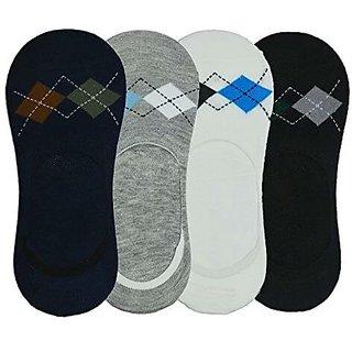 Men's Loafer Socks(Cotton) Pack Of Four Multicolour From The House Of Jagjeet Enterprises