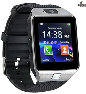 Clearex's Dz09 Square Unisex Smart watch With Sim and With Bluetooth