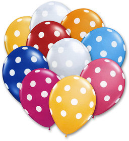 30 pcs Polka Dot Balloons for Birthday, Parties