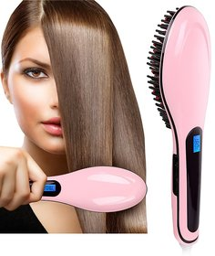 Fast Hair Straightener Brush for Smooth and Shiny Hair