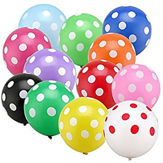 Polka Dot Balloons Multicolor Party Balloons for Birthday Parties pack of 30Pcs. for kids and youngs