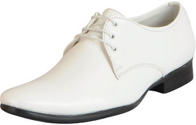 Fausto Men's White Formal Lace Up Shoes