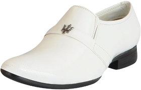 Fausto Men's White Formal Slip On Shoes