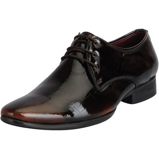 Fausto Mens Tan Formal Lace Up Shoes