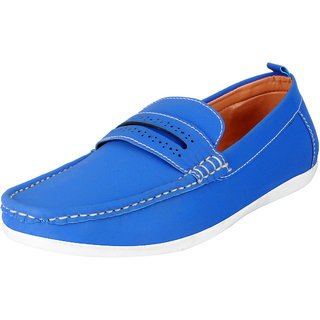 8ee2e1928d7 Buy Fausto Men s Blue Trendy Loafers and Mocassins Online - Get 4% Off