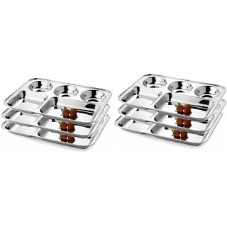 Royal Sapphire Material Multi Cuisine Bhojan Thali Set Of 6 Pc