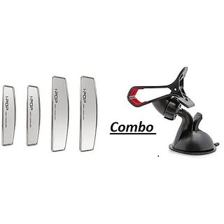 Combo of Car Mobile Holder with Silver Door Guard
