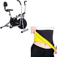 Deemark Air Bike Stamina With Back Support  Hot shapar-L as freebie