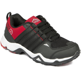 Asian Apple-02 Black Red Running Shoes For Men