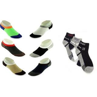 GW HOME KING sports socks 3 loafer socks 6 pack of 9
