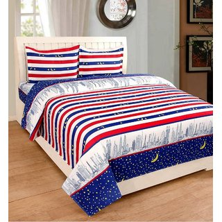 EXOTIC COTTON 1 DOUBLE BED SHEET WITH 2 PILLOW COVERS EXDB-12