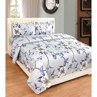 EXOTIC COTTON 1 DOUBLE BED SHEET WITH 2 PILLOW COVERS EXDB-13