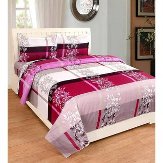 EXOTIC COTTON 1 DOUBLE BED SHEET WITH 2 PILLOW COVERS EXDB-15